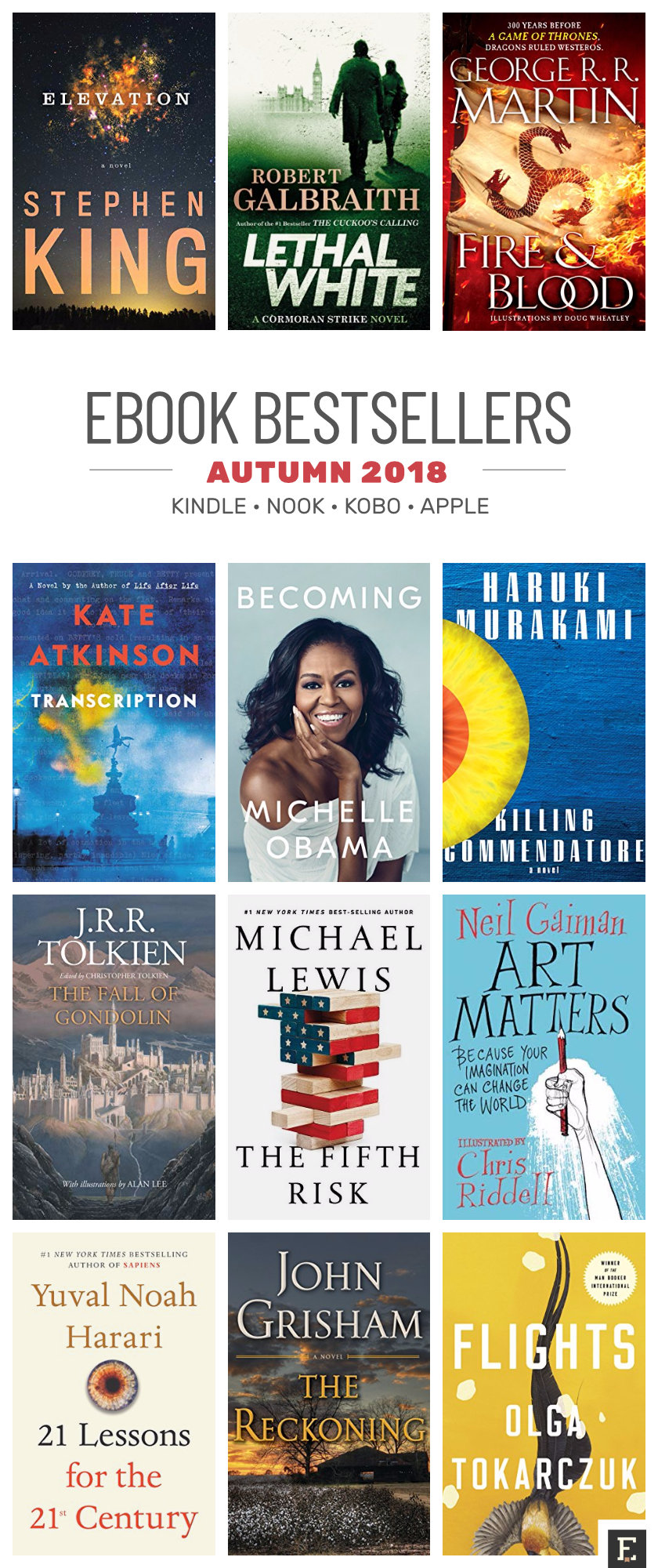 Best ebooks of autumn 2018 #infographic
