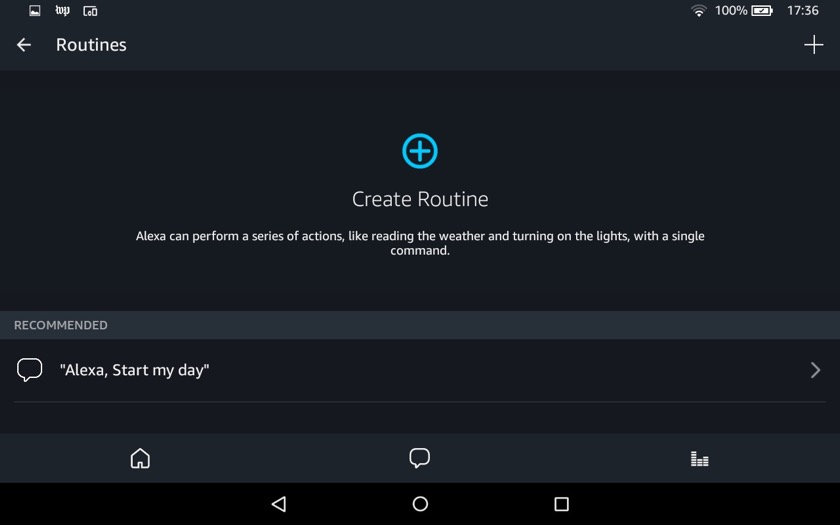 In Amazon Alexa app you can create a routine