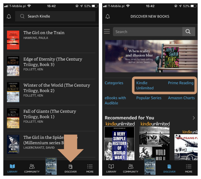 Kindle for iPad and iPhone updates with extended previews of Kindle Unlimited and Amazon Prime Reading