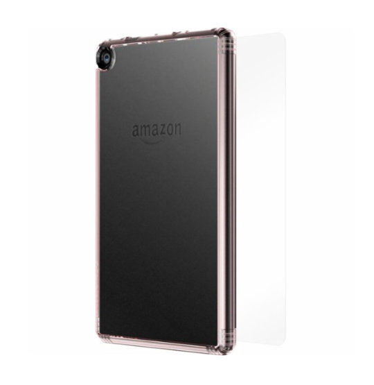 SaharaCase Transparent Case and Screen Protector for Amazon Fire HD 8