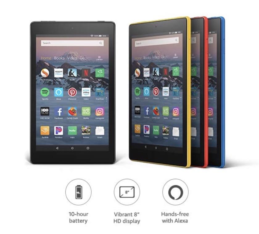 amazon fire hd 8 2018 tablet full specs comparisons pics more
