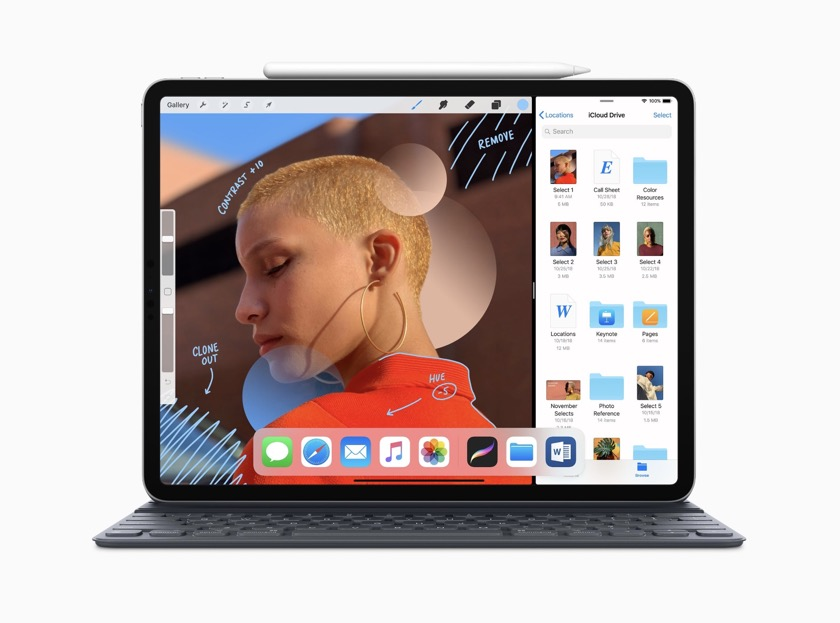 iPad Pro 12.9 2018 release works best with Apple Pencil and Smart Keyboard