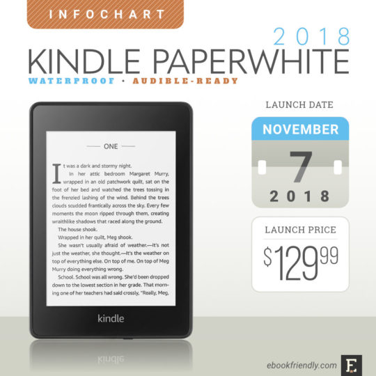 Kindle paperwhite 4 2018 full specs feature round up comparisons