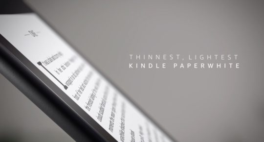 Amazon Kindle Paperwhite 2018 is the thinnest and lightest Paperwhite ever released