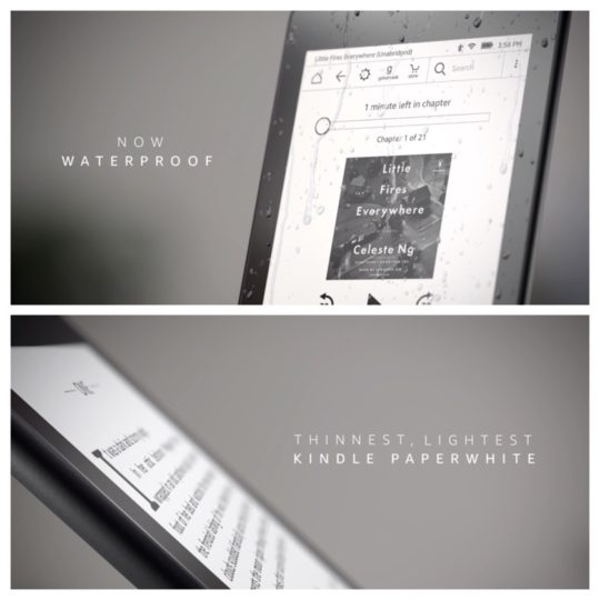 The new Kindle Paperwhite 4 is waterproof, can play