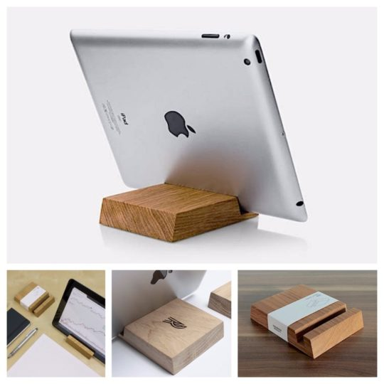 Wooden handmade iPad stand - personalized to order