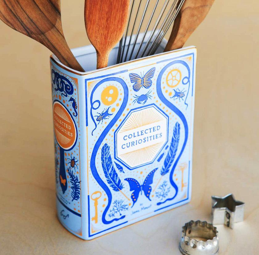 Bibliophile Ceramic Vase - best literary home decor 2018