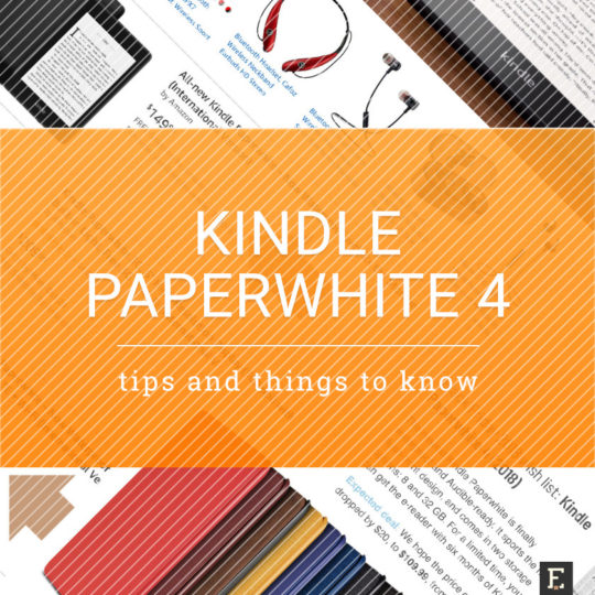10 things to know about Amazon Kindle Paperwhite 4