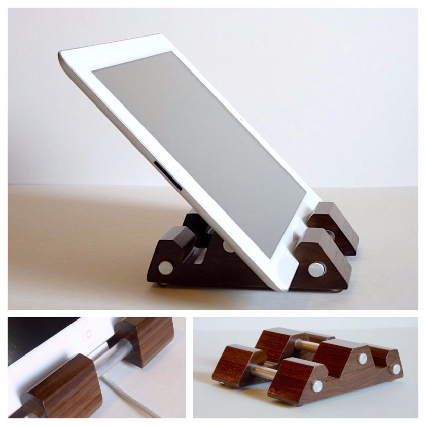 Hardwood Shop Multi-angle Walnut iPad Stand Holder