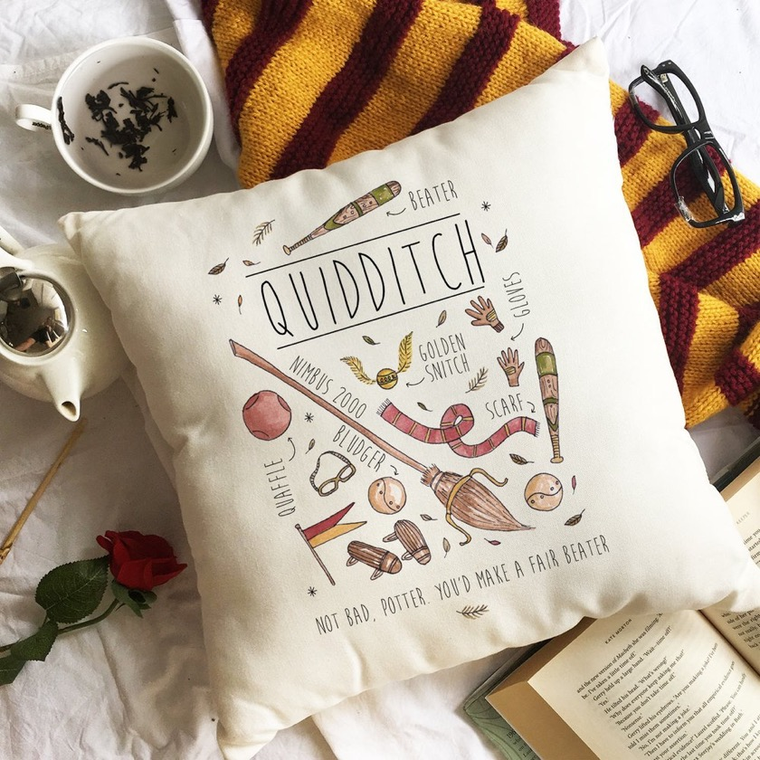 Harry Potter Quidditch Throw Pillow - top gift ideas 2018
