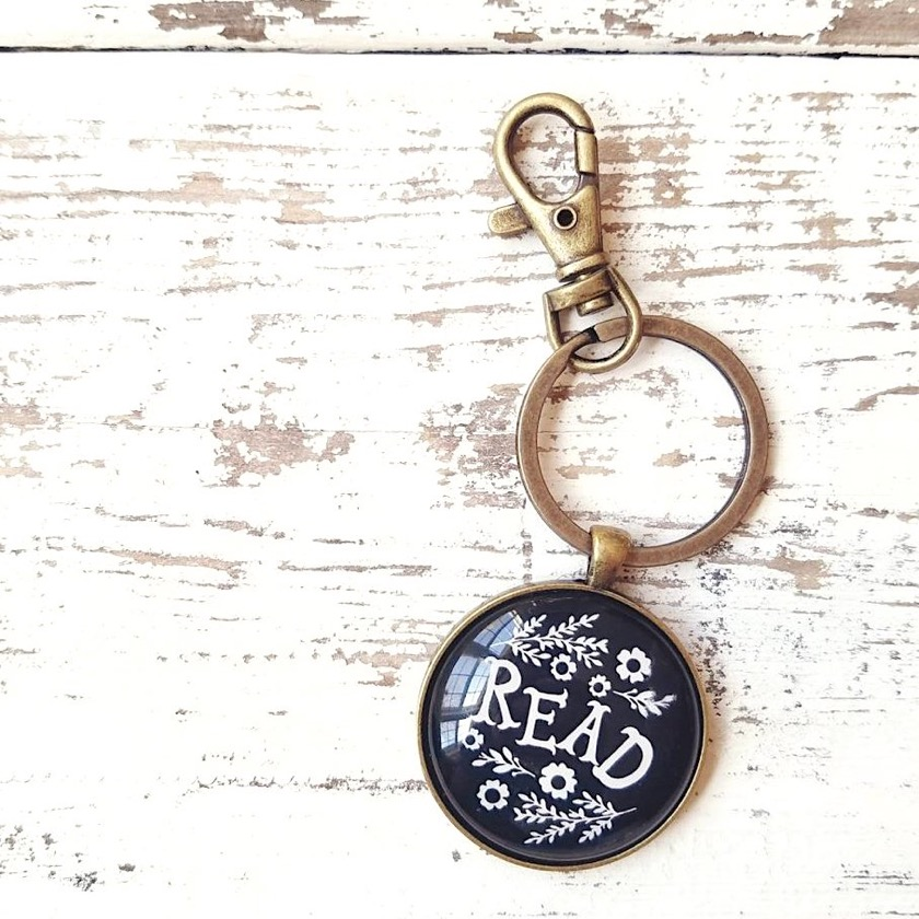 Love Maude Read Keychain - bookworm librarian gifts of 2018