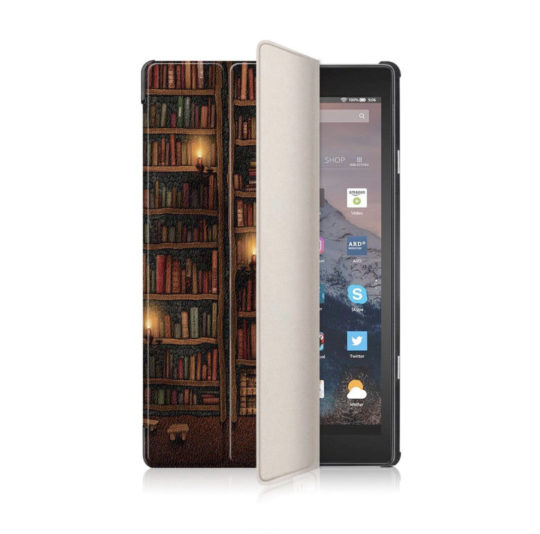 Old Library Tri-fold Case for Amazon Fire HD 8