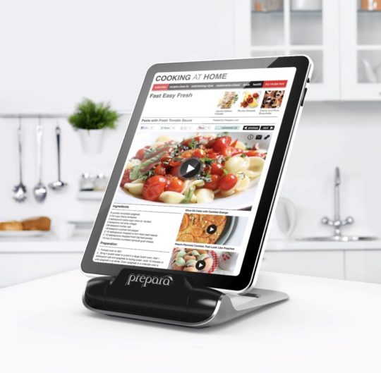 Prepara iPrep adjustable kitchen iPad stand