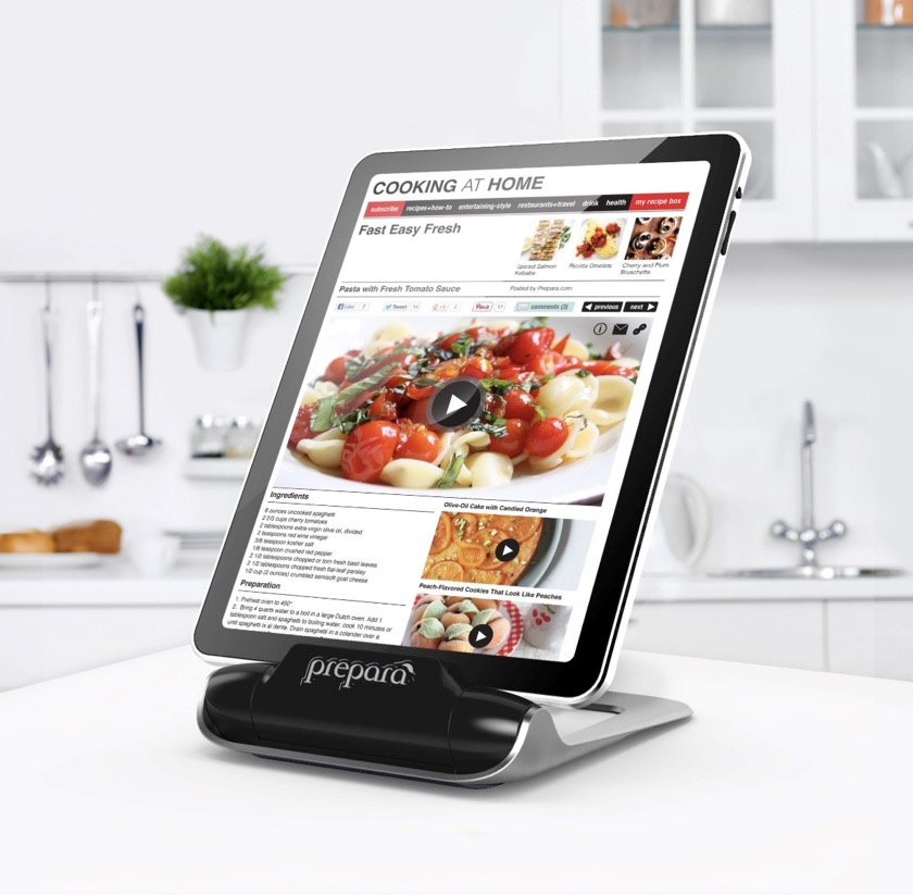 Prepara iPrep Adjustable Cookbook iPad Stand