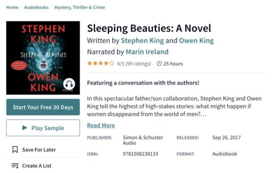 Scribd audiobooks for iPad