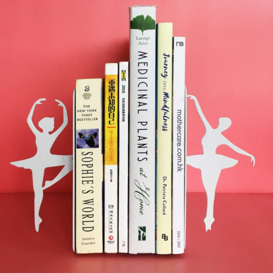 Stylish White Ballerina Bookends - literary gifts 2018