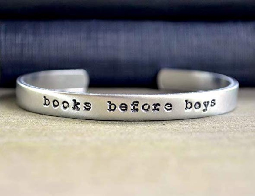 Books Before Boys bracelet - Black Friday and Christmas 2018 bookish gifts