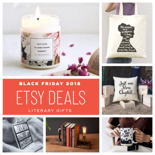 Etsy deals on literary items - Black Friday 2018