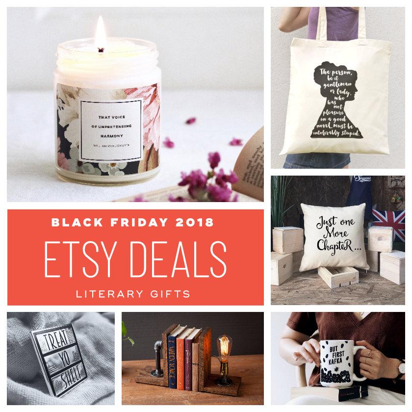 Etsy deals on literary items - Black Friday 2018