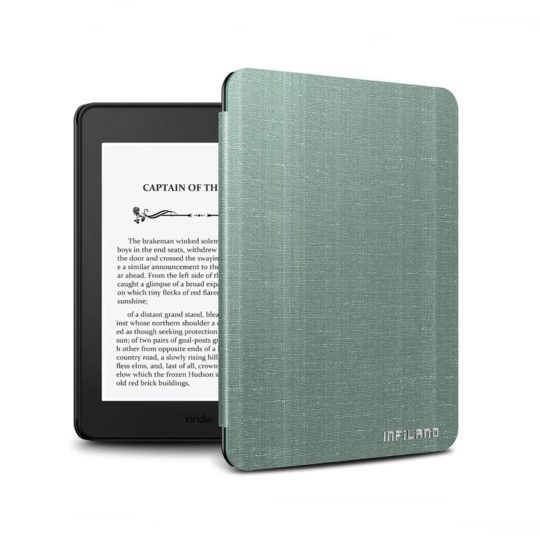 Infiland Natural Series Kindle Paperwhite 4 2018 Slim Shell Case
