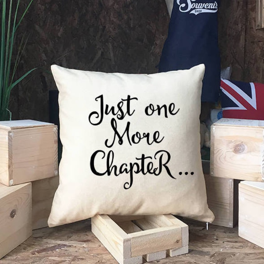 Just One More Chapter Pillow - Christmas 2018 gifts for book lovers