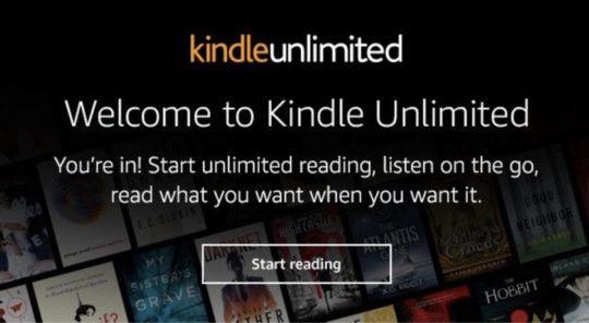 Kindle Paperwhite 4 - Kindle Unlimited confirmation email