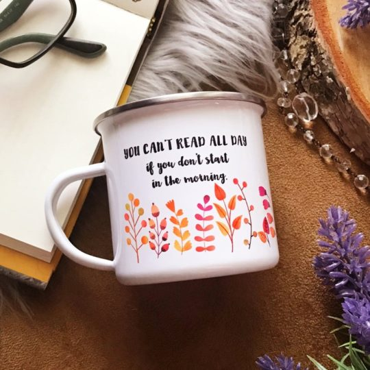 Literary Camp Mug - Black Friday Christmas 2018 gifts for book lovers