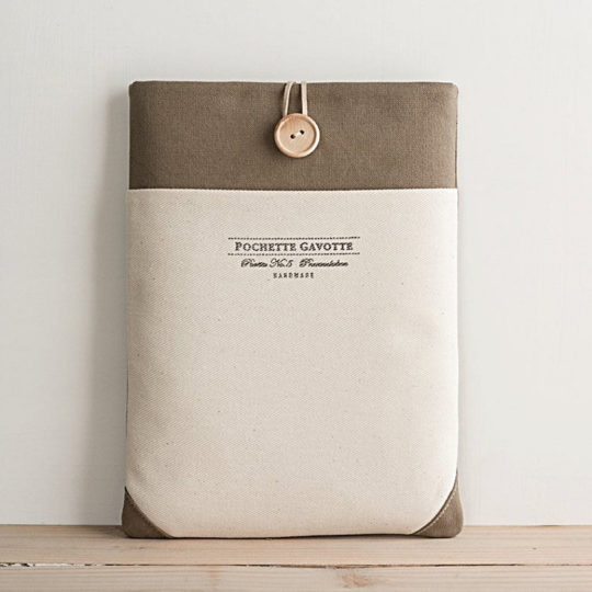 Pochette Gavotte Natural Cotton iPad Sleeve 2018