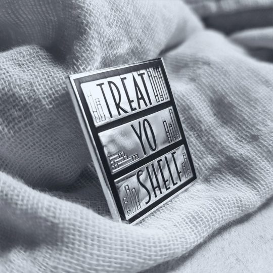 Treat Yo Shelf enamel pin - bookish gifts Christmas 2018