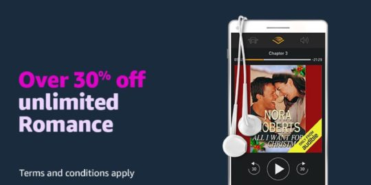 Amazon Digital Day 2018 Audible deal - save 30 percent on Audible Romance package