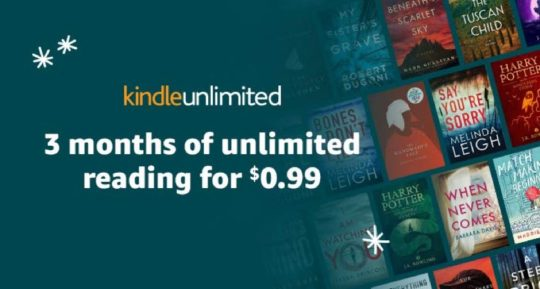 Amazon Digital Day 2018 - Kindle Unlimited for 0.99 for first three months