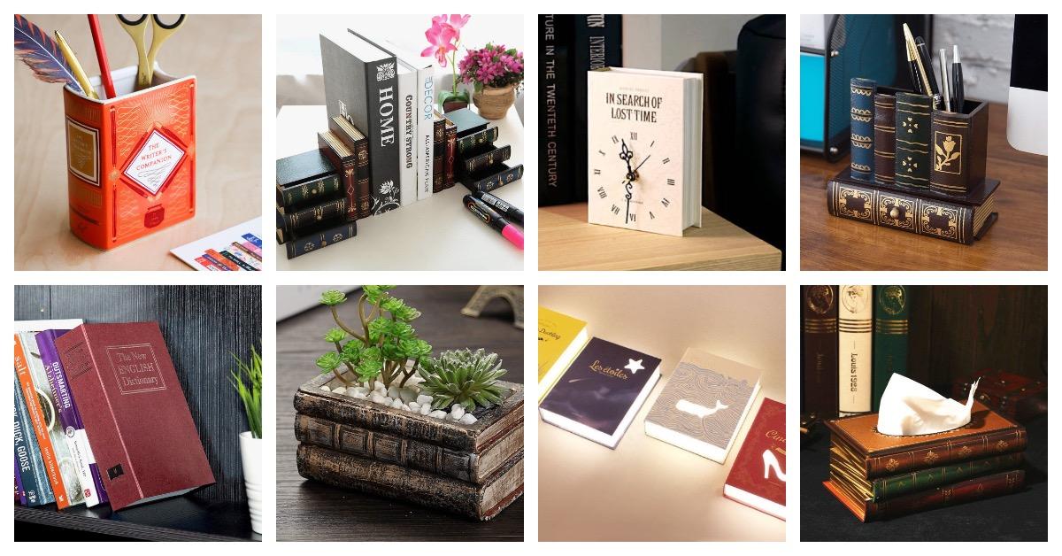 14 Impressive Book-shaped Home Decor Accessories And