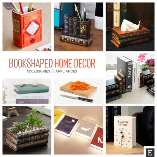 Best examples of book-shaped home decor