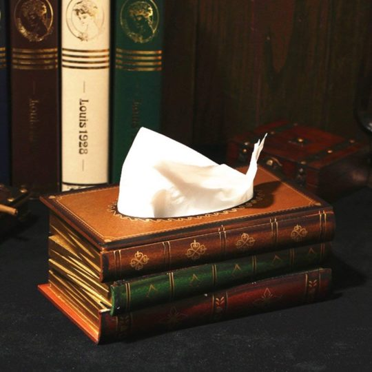Home decor ideas for book lovers - Tosnail tissue dispenser