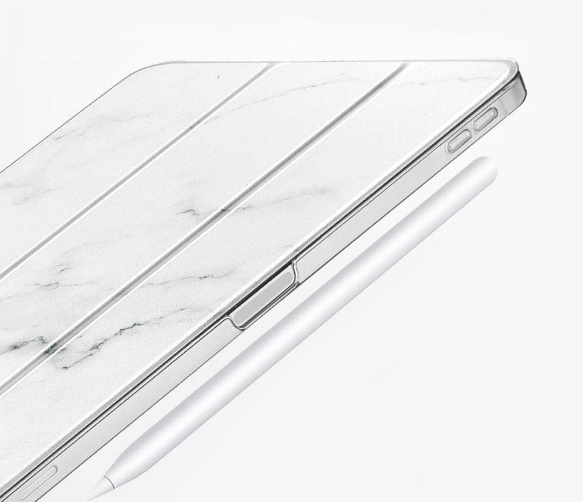 ESR marble tri-fold stand case with Apple Pencil charging support - for iPad Pro 11 2018