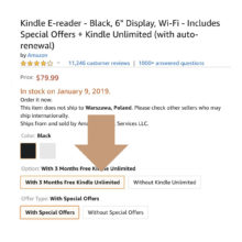 Get the basic Kindle with free Kindle Unlimited plan and save $30