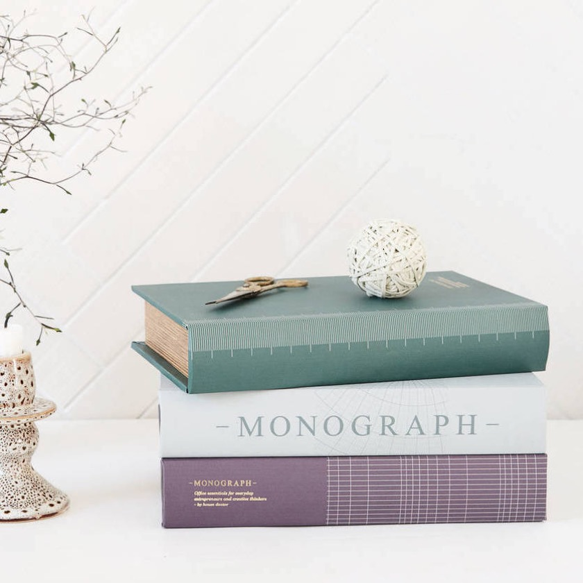 Home decor shaped like books - All Things Brighton Beautiful storage boxes