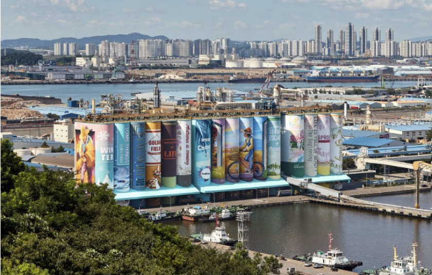 Incheon mural was recognized by Guinness World Records as the largest outdoor mural