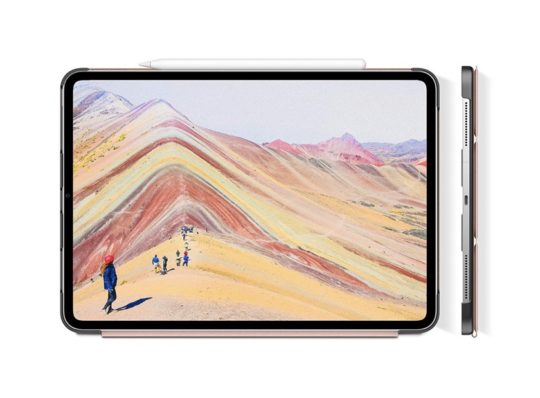 Infiland tri-fold case cover for iPad Pro 2018 Apple Pencil charging compatible