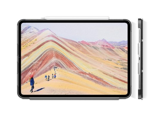 Infiland tri-fold stand case for iPad Pro 12.9-inch released in 2018 with Apple Pencil charging support
