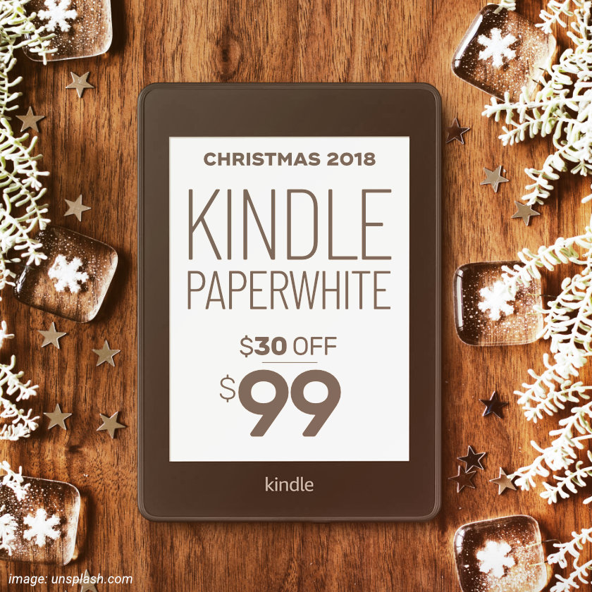 Kindle Paperwhite 4 2018 Christmas deal - save up to 60 dollars on all versions
