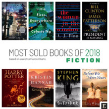 Top 10 most sold fiction books of 2018