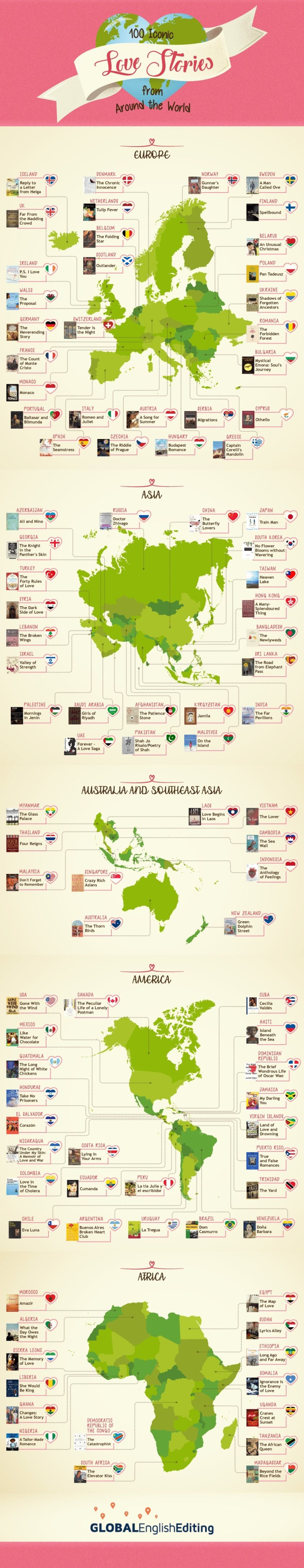 100 iconic books about love from around the world #infographic