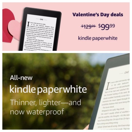 The waterproof, Audible-ready Kindle Paperwhite 4 is discounted by $30 and costs only $99.99