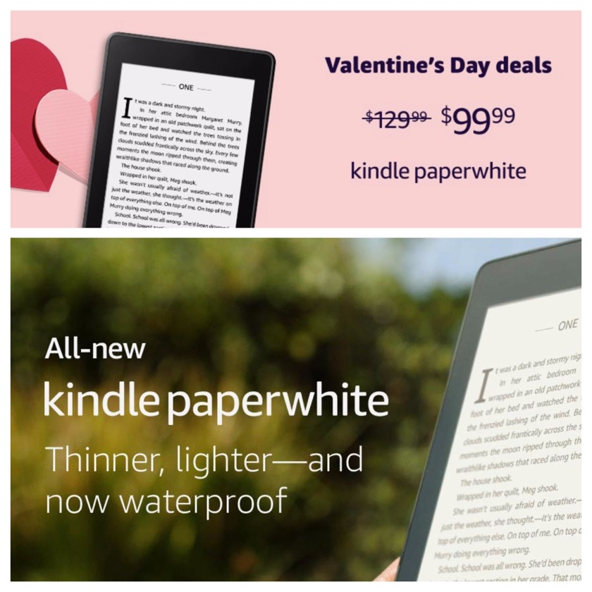 4th-generation Kindle Paperwhite price cut for Valentines Day 2019