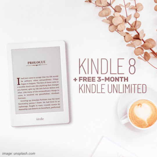 8th-generation Kindle with free Kindle Unlimited 3-month subscription lets you save $30