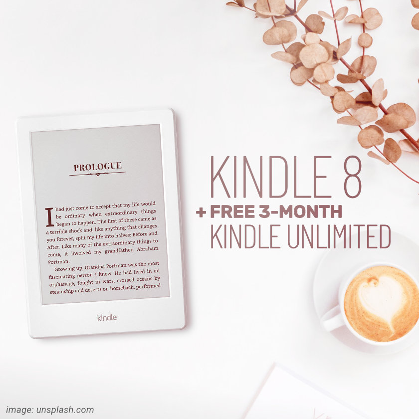 8th-generation Kindle with free Kindle Unlimited 3-month subscription