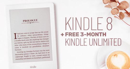 Kindle 8 and Kindle Unlimited bundle - save 30 dollars