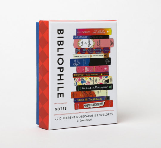 Literary gifts for Valentines Day 2019 - Bookish notecards and envelopes from Jane Mount