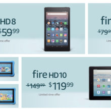 All Amazon Fire tablets are on sale, the 7-inch sells at $39.99